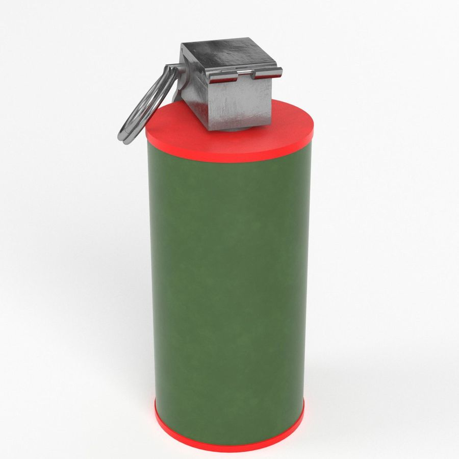 Smoke grenade royalty-free 3d model - Preview no. 2
