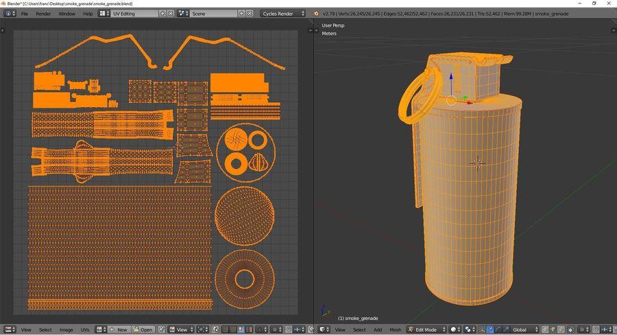 Smoke grenade royalty-free 3d model - Preview no. 10