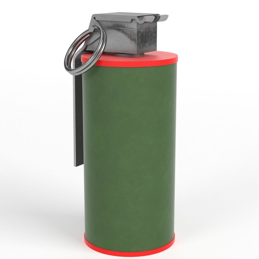 Smoke grenade royalty-free 3d model - Preview no. 1