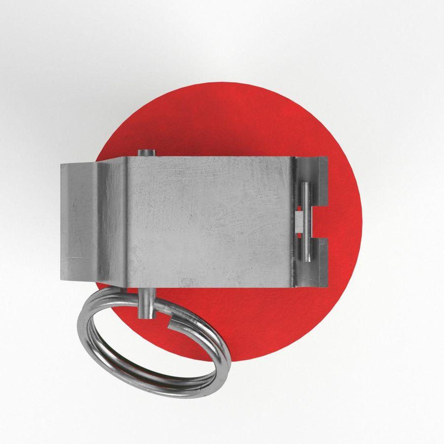 Smoke grenade royalty-free 3d model - Preview no. 6