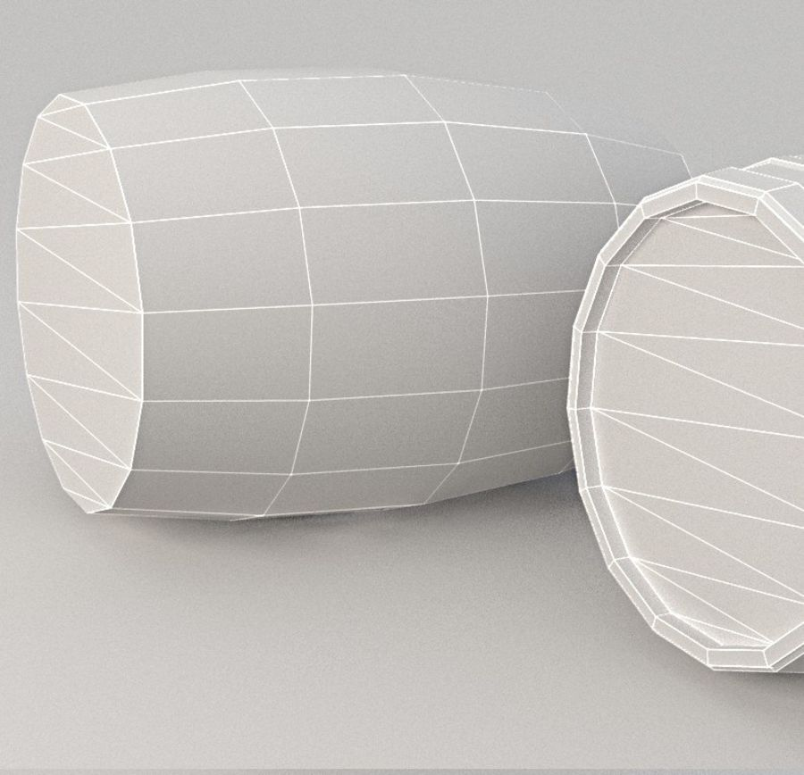 Wooden Barrel Lowpoly royalty-free 3d model - Preview no. 5