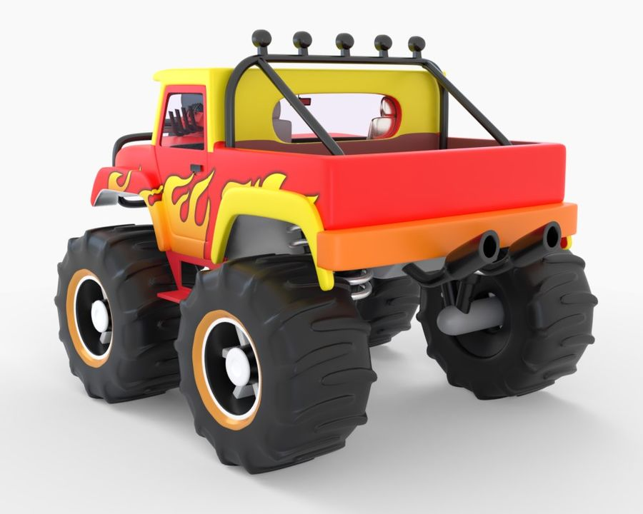 Toy Monster Off road Truck royalty-free 3d model - Preview no. 5