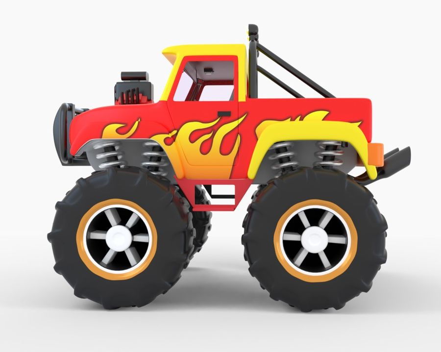Toy Monster Off road Truck royalty-free 3d model - Preview no. 3