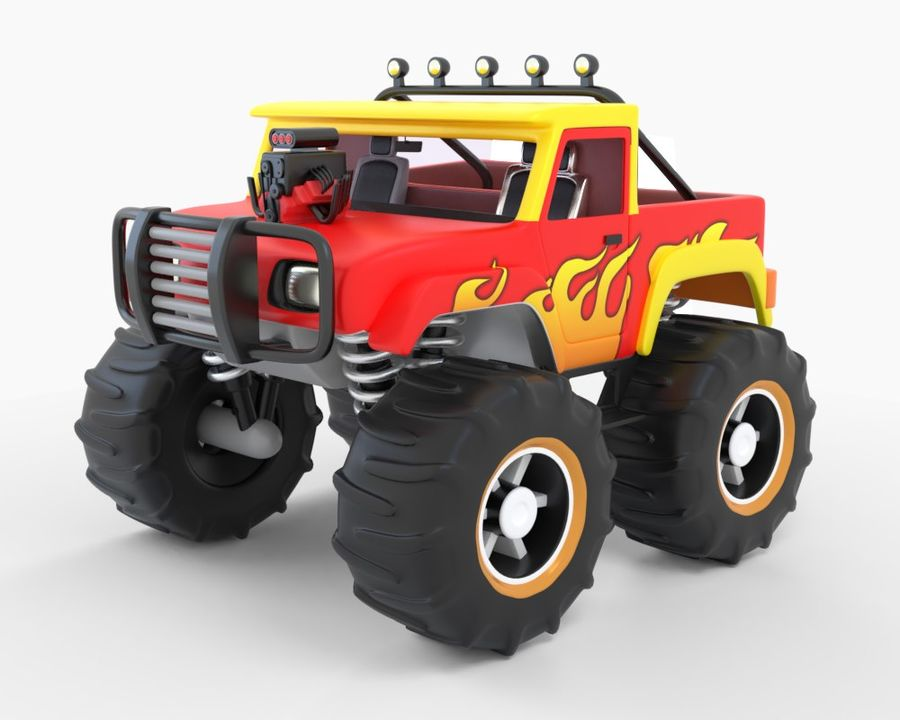 Toy Monster Off road Truck royalty-free 3d model - Preview no. 1