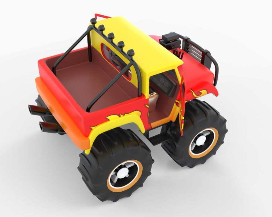 Toy Monster Off road Truck royalty-free 3d model - Preview no. 7