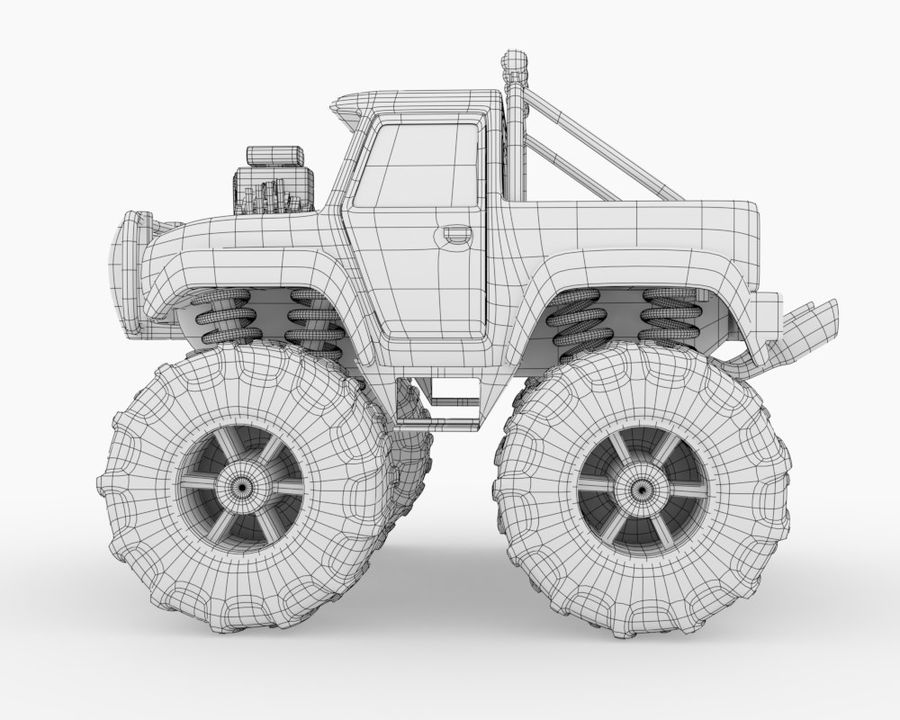 Toy Monster Off road Truck royalty-free 3d model - Preview no. 4