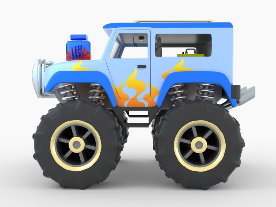 Toy Monster Truck royalty-free 3d model - Preview no. 3