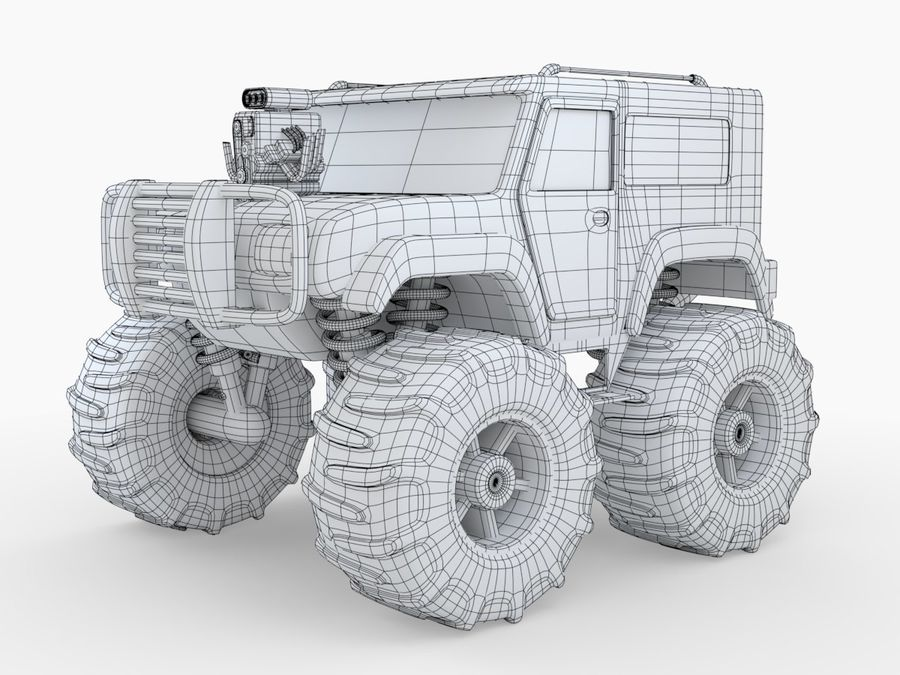 Toy Monster Truck royalty-free 3d model - Preview no. 2