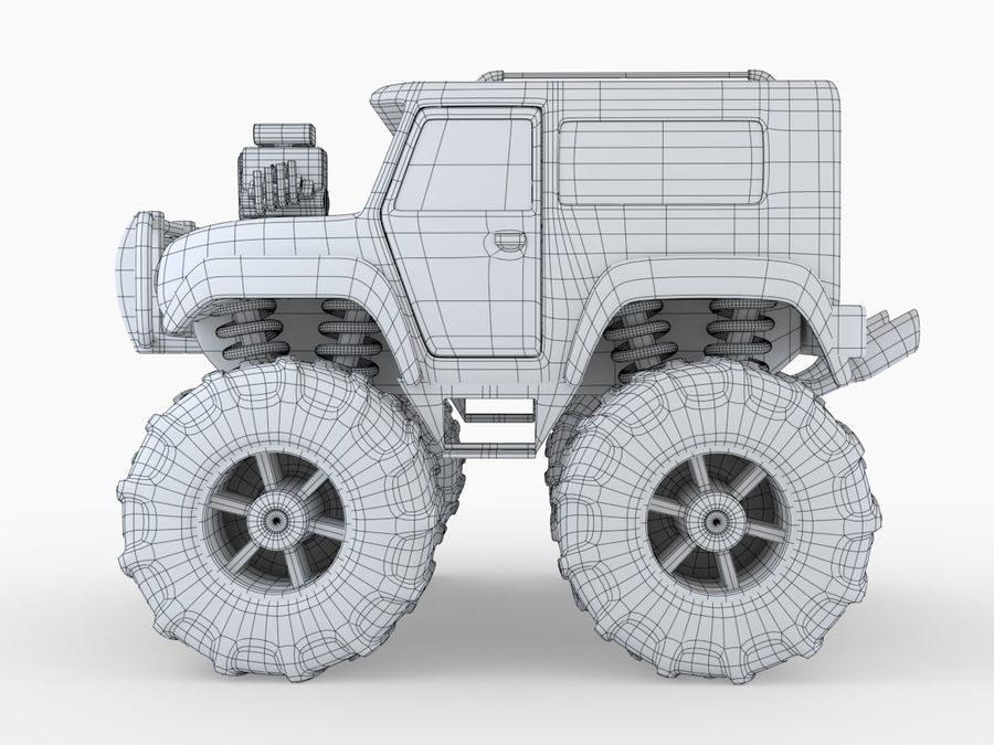 Toy Monster Truck royalty-free 3d model - Preview no. 4