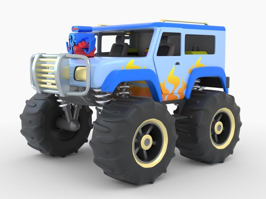 Toy Monster Truck royalty-free 3d model - Preview no. 1