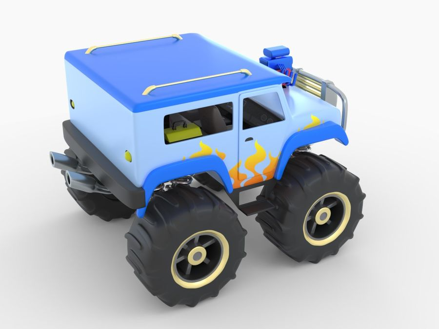 Toy Monster Truck royalty-free 3d model - Preview no. 5