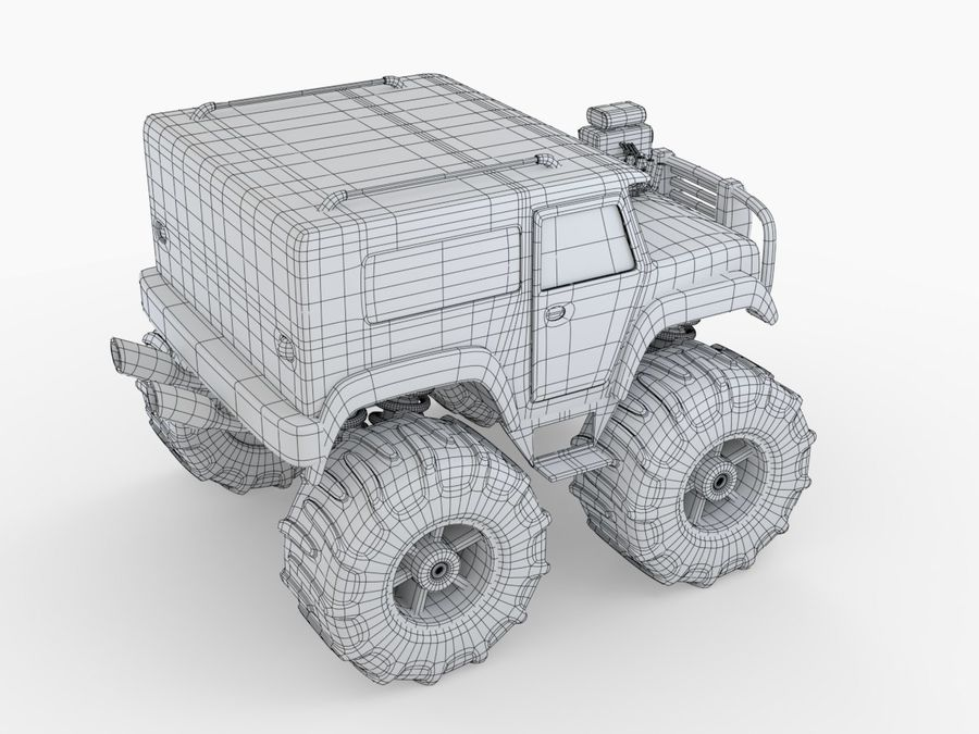 Toy Monster Truck royalty-free 3d model - Preview no. 6