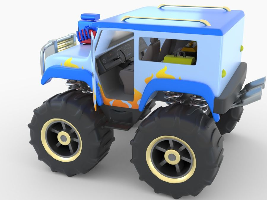 Toy Monster Truck royalty-free 3d model - Preview no. 7