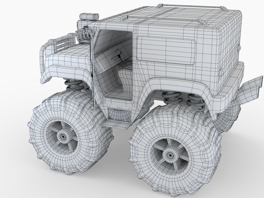 Toy Monster Truck royalty-free 3d model - Preview no. 8