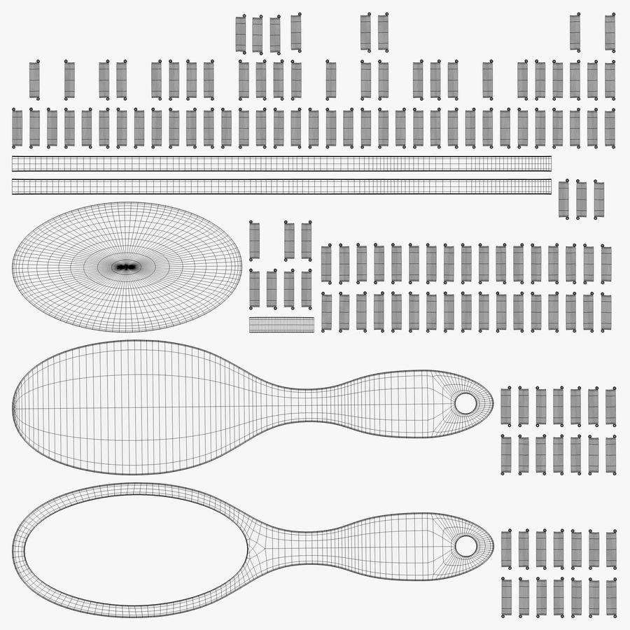 Cushion pin brush royalty-free 3d model - Preview no. 1
