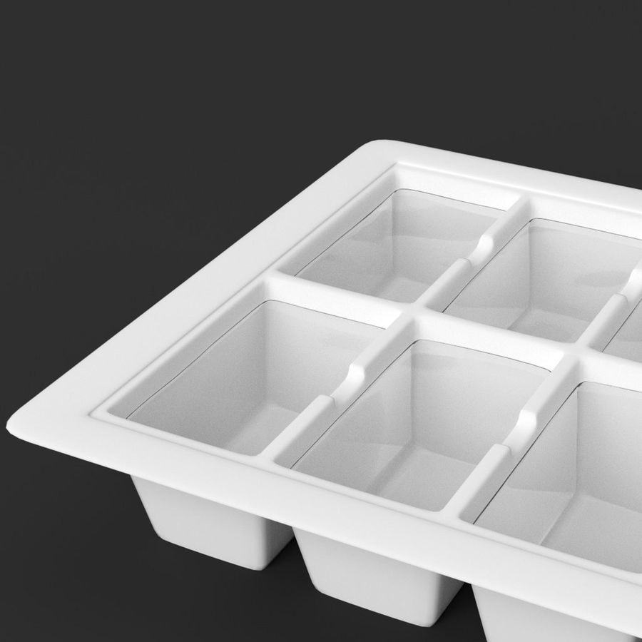 Ice cube tray royalty-free 3d model - Preview no. 5