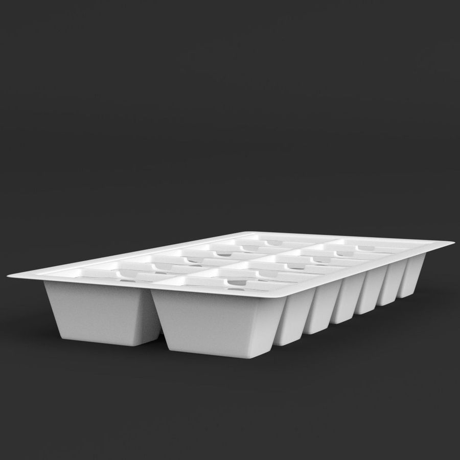 Ice cube tray royalty-free 3d model - Preview no. 3