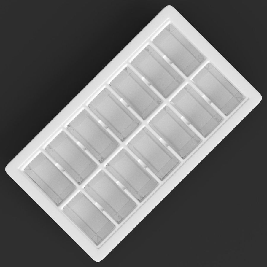 Ice cube tray royalty-free 3d model - Preview no. 6