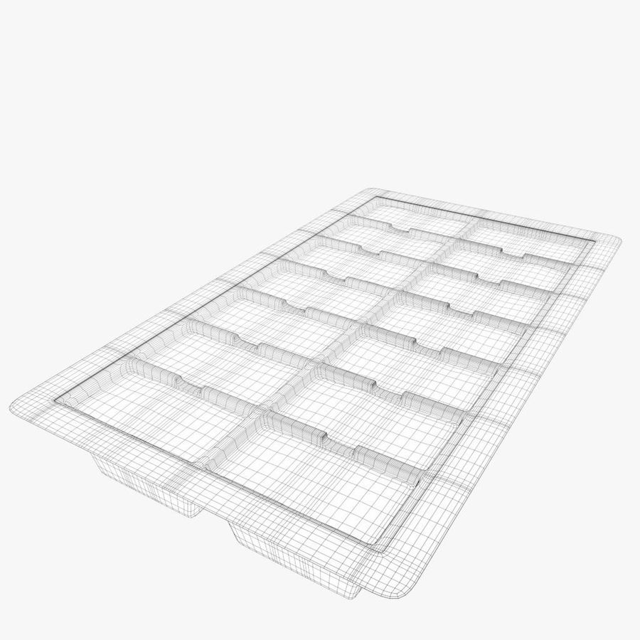 Ice cube tray royalty-free 3d model - Preview no. 7