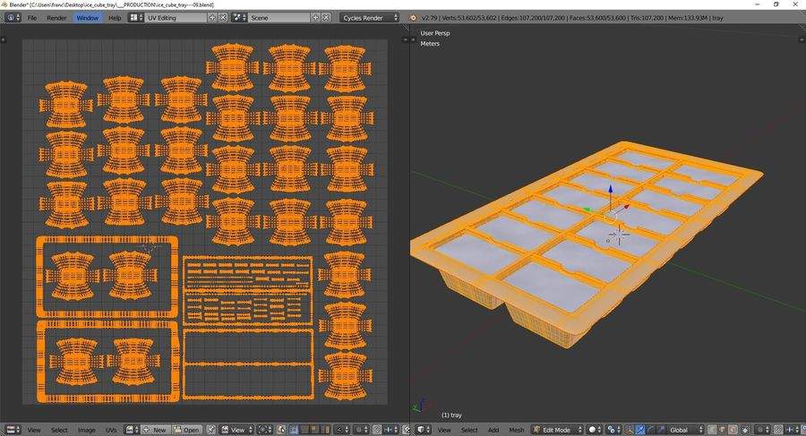 Ice cube tray royalty-free 3d model - Preview no. 10