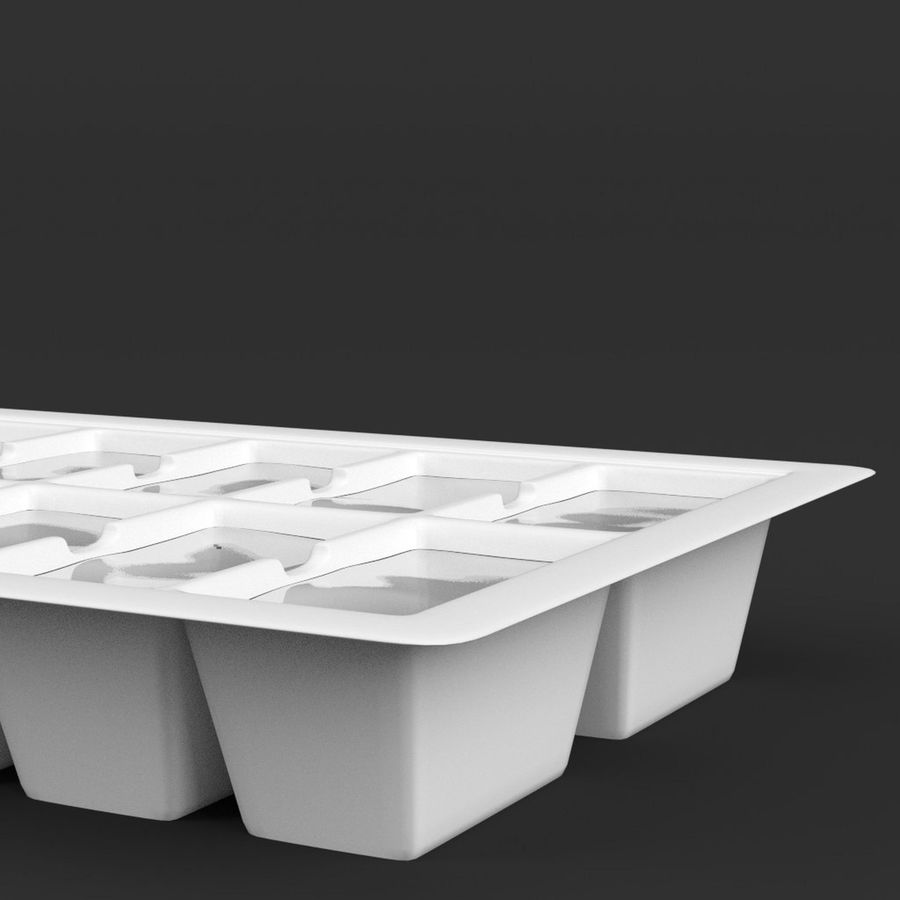 Ice cube tray royalty-free 3d model - Preview no. 4
