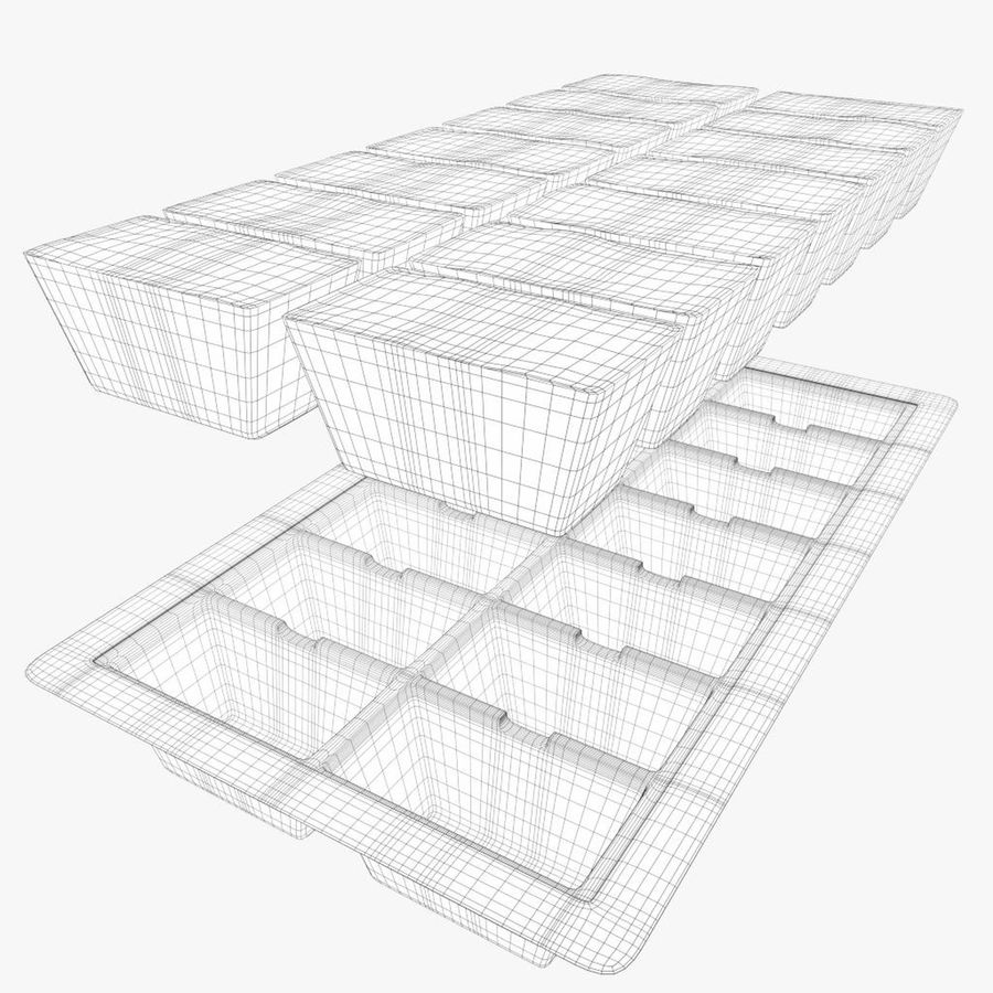 Ice cube tray royalty-free 3d model - Preview no. 8