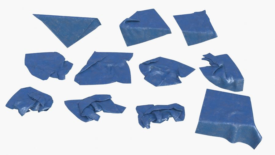 Tarp Assets 01 royalty-free 3d model - Preview no. 1