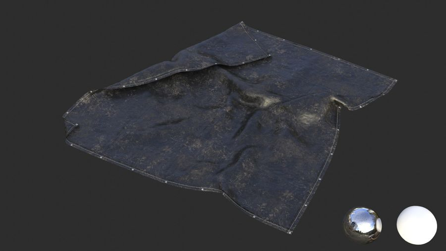 Tarp Assets 01 royalty-free 3d model - Preview no. 8