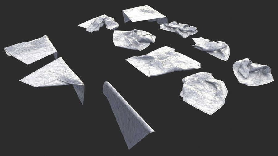 Tarp Assets 01 royalty-free 3d model - Preview no. 7