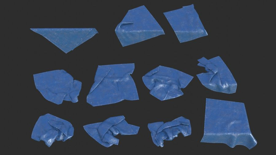 Tarp Assets 01 royalty-free 3d model - Preview no. 5