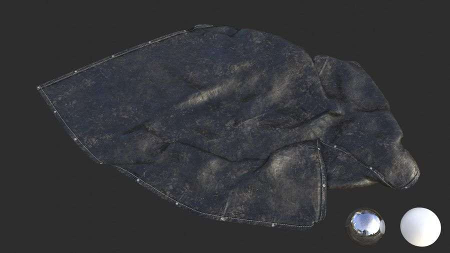 Tarp Assets 01 royalty-free 3d model - Preview no. 19