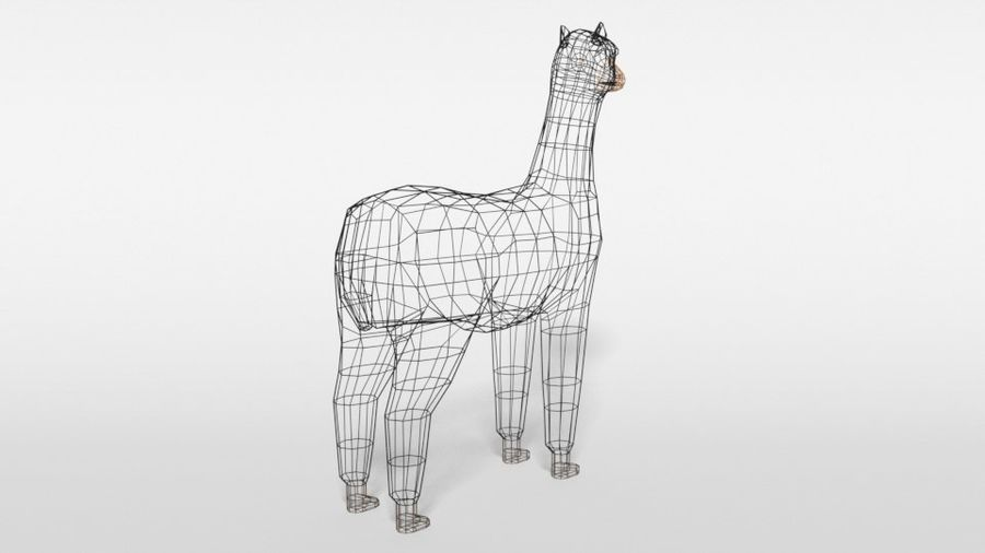 Low Poly Cartoon Alpaca royalty-free 3d model - Preview no. 14