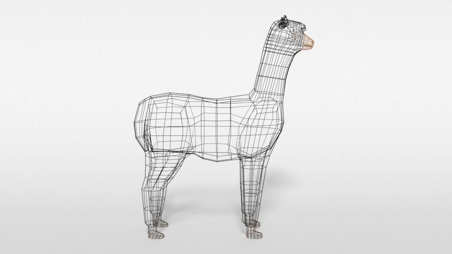 Low Poly Cartoon Alpaca royalty-free 3d model - Preview no. 15