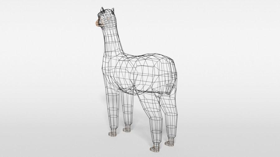 Low Poly Cartoon Alpaca royalty-free 3d model - Preview no. 12