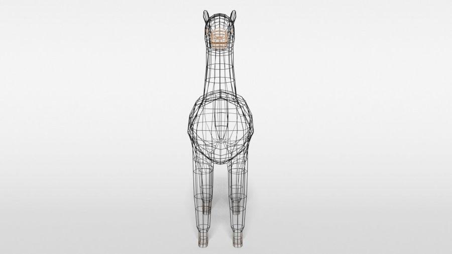 Low Poly Cartoon Alpaca royalty-free 3d model - Preview no. 17