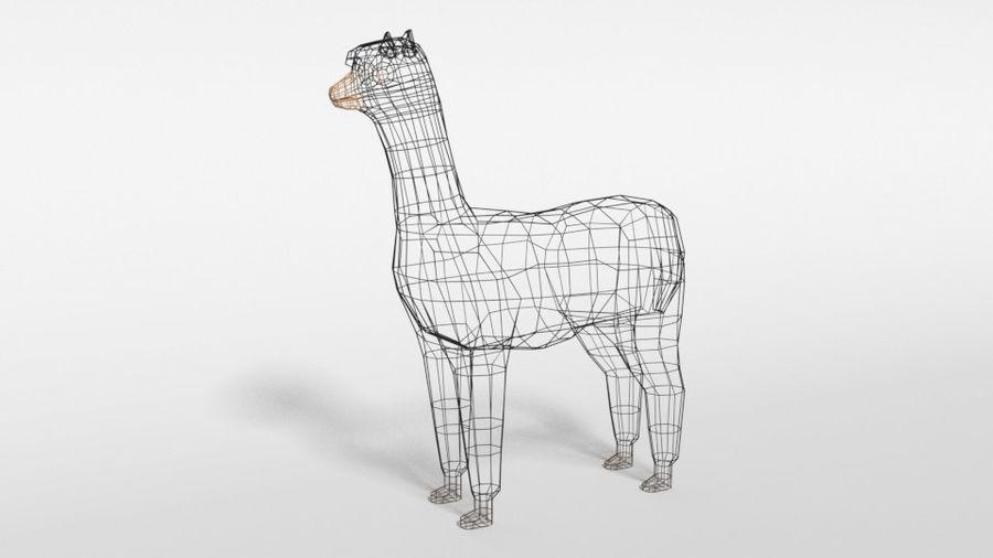Low Poly Cartoon Alpaca royalty-free 3d model - Preview no. 10