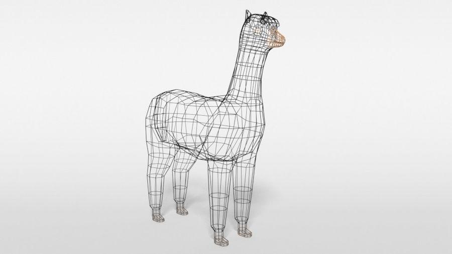 Low Poly Cartoon Alpaca royalty-free 3d model - Preview no. 16