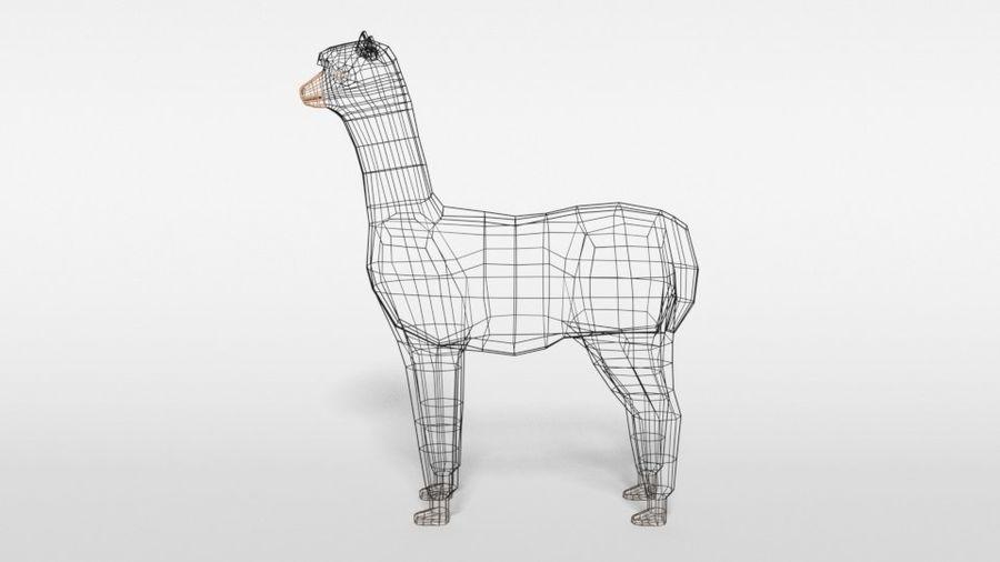 Low Poly Cartoon Alpaca royalty-free 3d model - Preview no. 11