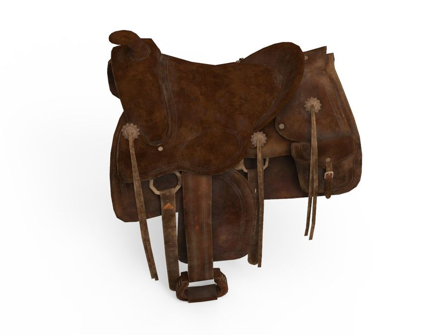 saddle royalty-free 3d model - Preview no. 3