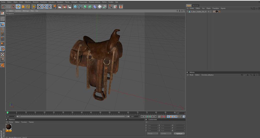 saddle royalty-free 3d model - Preview no. 1