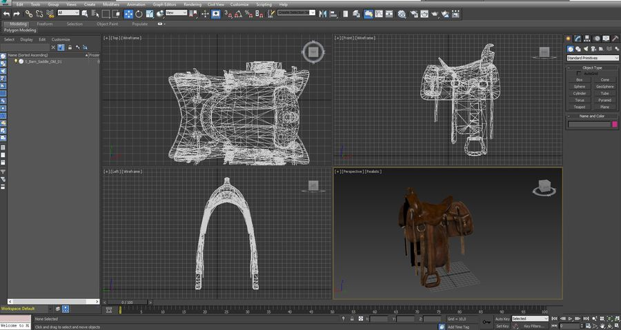saddle royalty-free 3d model - Preview no. 9