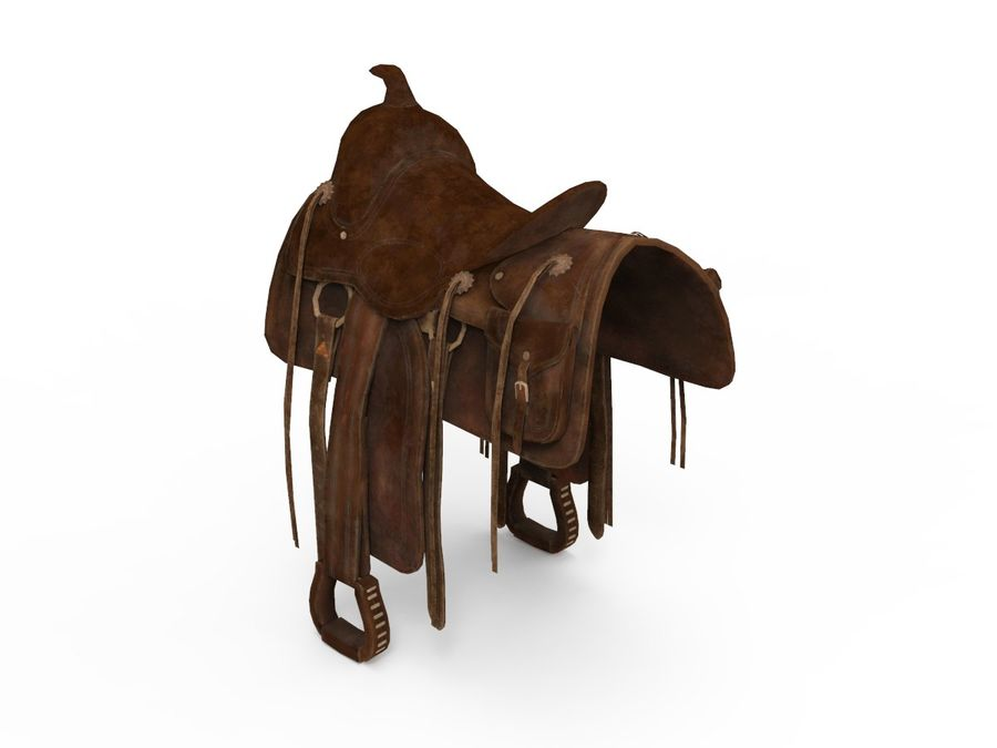 saddle royalty-free 3d model - Preview no. 2