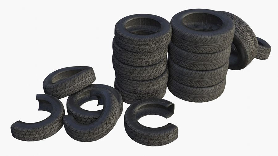 Car Tires Assets royalty-free 3d model - Preview no. 1