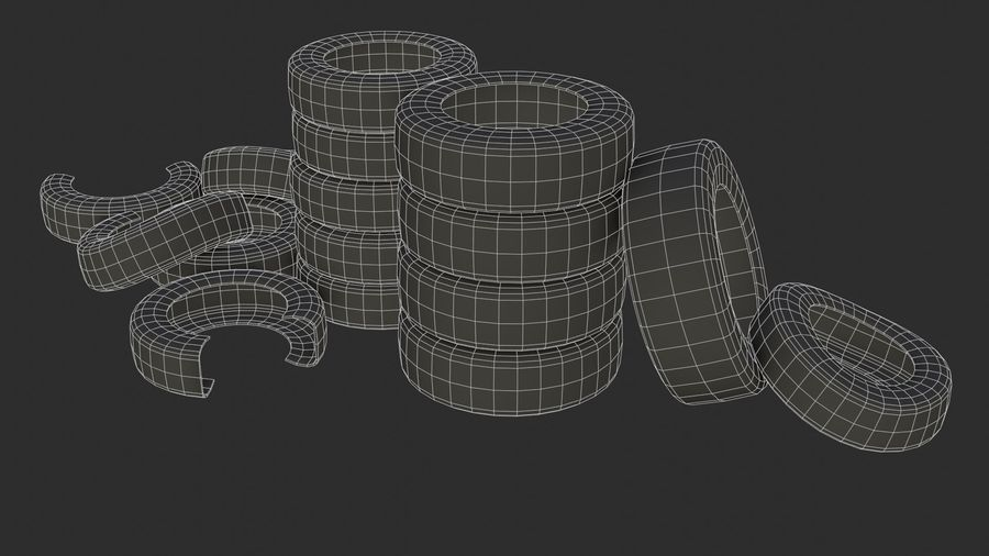 Car Tires Assets royalty-free 3d model - Preview no. 7