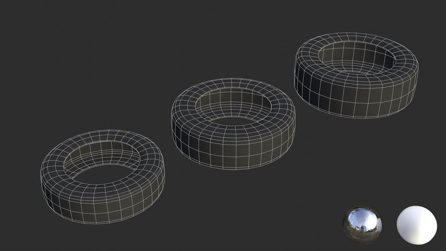 Car Tires Assets royalty-free 3d model - Preview no. 4