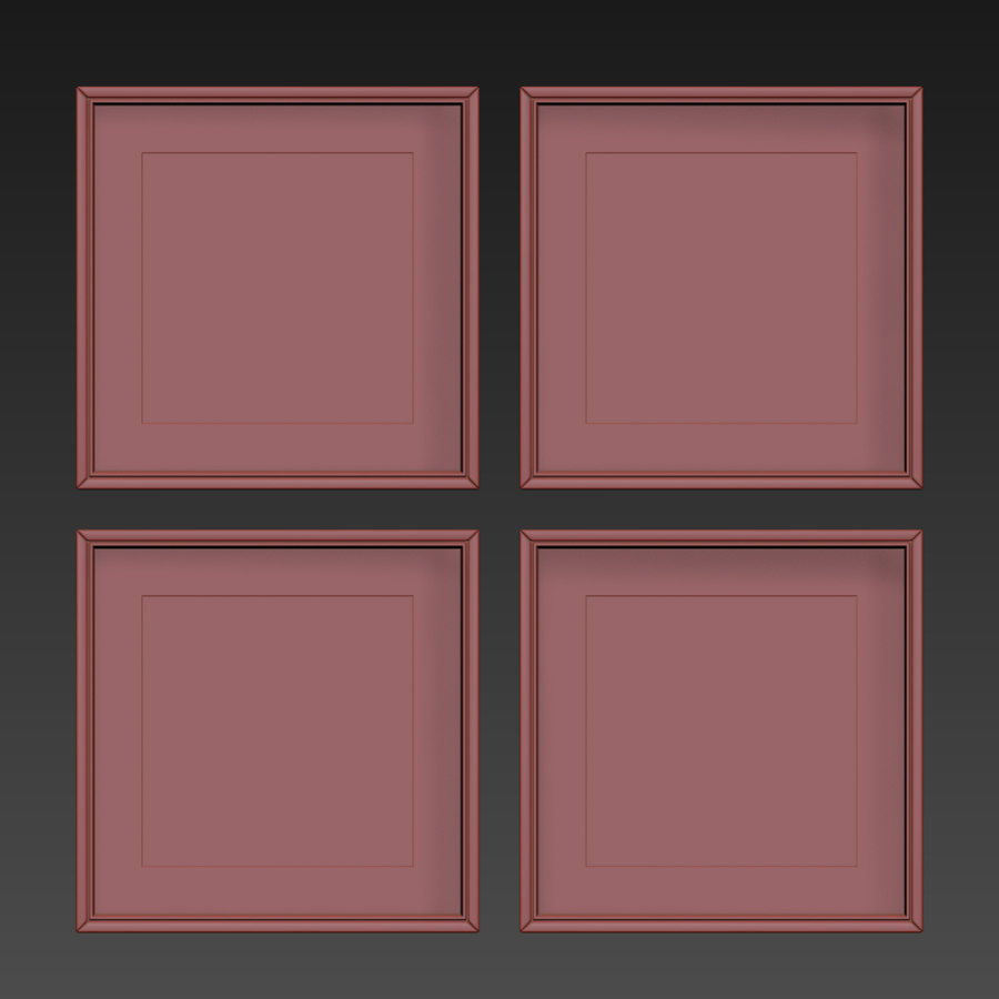 Picture Frames Set -129 royalty-free 3d model - Preview no. 14