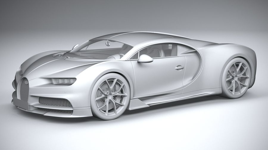 Bugatti Chiron 2020 royalty-free 3d model - Preview no. 20