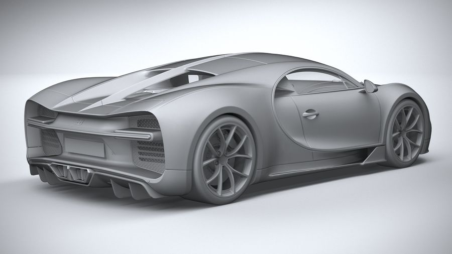 Bugatti Chiron 2020 royalty-free 3d model - Preview no. 26