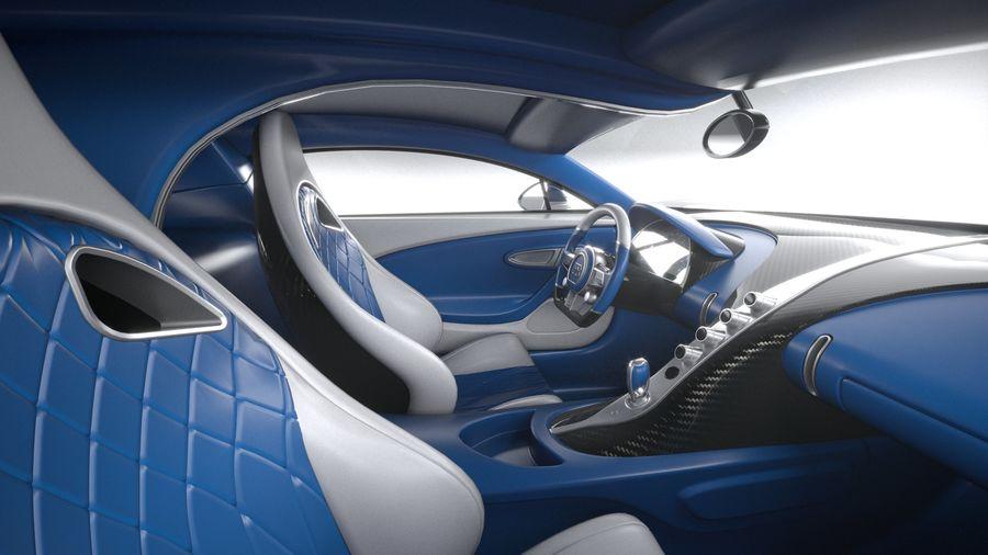 Bugatti Chiron 2020 royalty-free 3d model - Preview no. 1