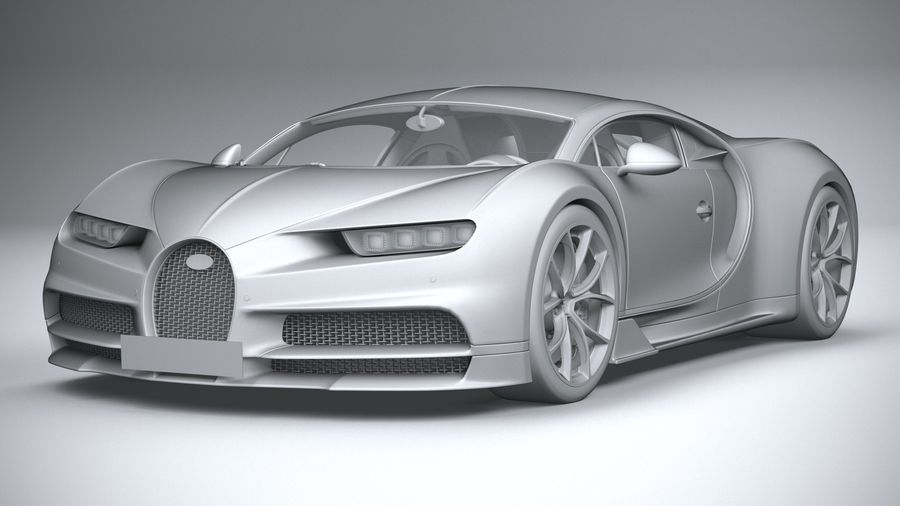 Bugatti Chiron 2020 royalty-free 3d model - Preview no. 21